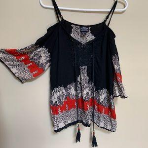 Boho Shirt w/ Tassels